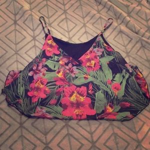 Wet seal crop - tropical print